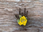 Flower Hand hard enamel pin